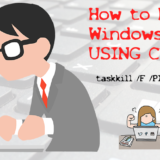 Kill windows process using cmd