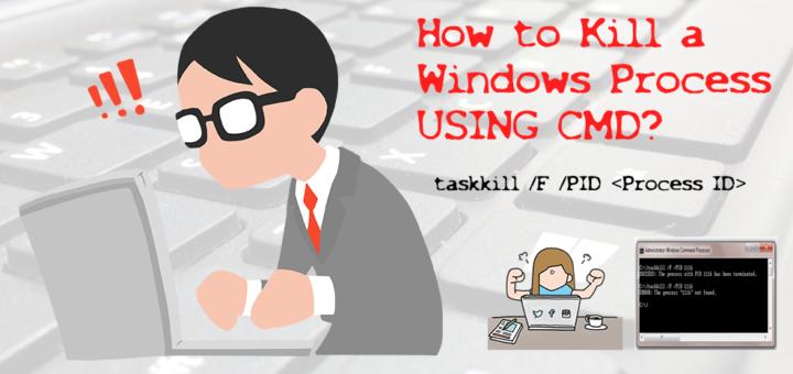 Kill windows process using cmd